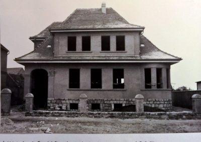 1935, Bau eines Wohnhauses, Mieste