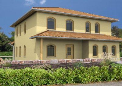 Stadtvilla_175_3Erker_überdEing_überdFreisitz_mediterran_3D 1